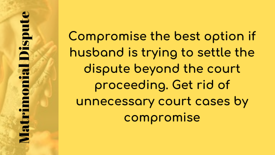 Wife has filed many court cases concerning the matrimonial dispute