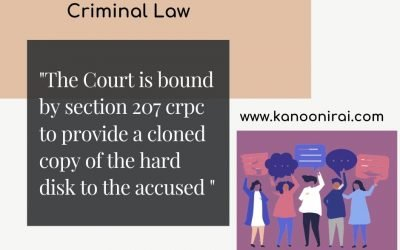 Cloned copy of the hard disk : Can court provide it to the accused