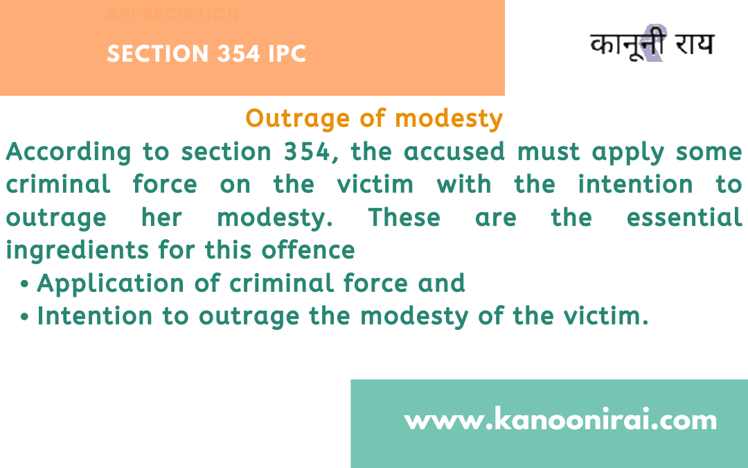 False FIR under section 354 IPC : Outrage of modesty